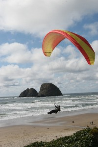 Paraglider viewed from Oceanside Community Club patio by Bob Reed