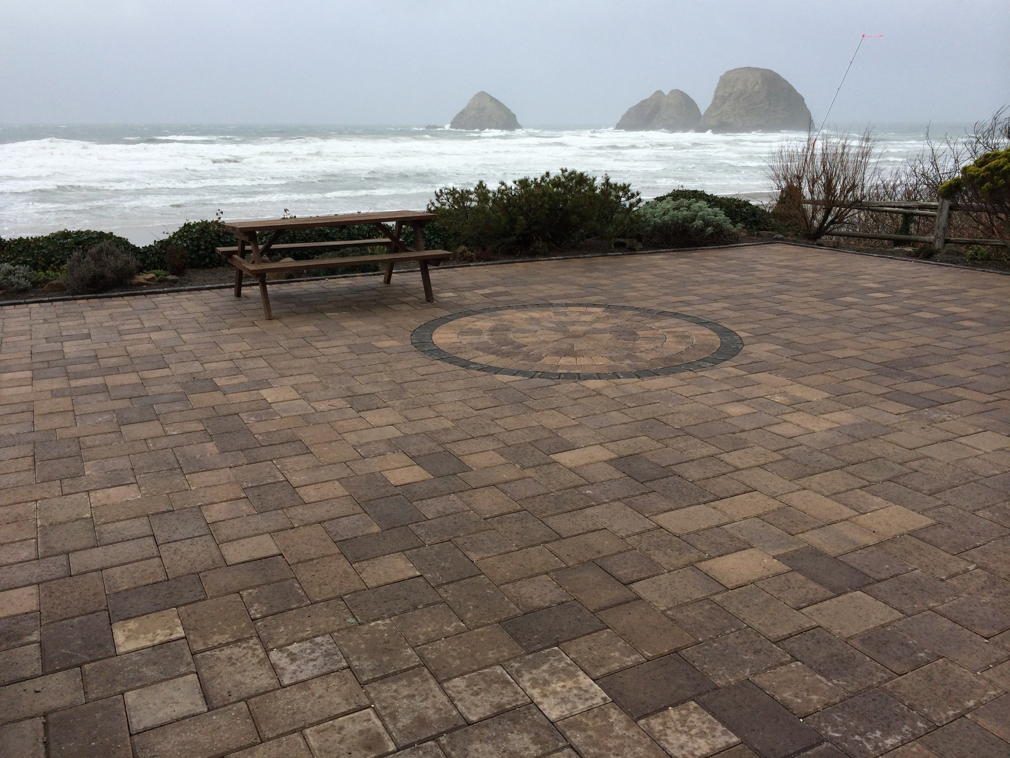 Patio View of Three Arch Rocks